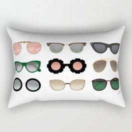 Sunglasses Illustration (Green/Gold Palette) Rectangular Pillow