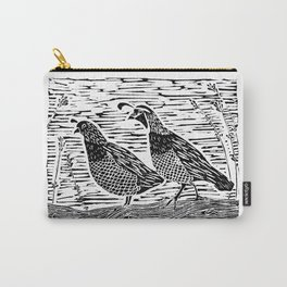 Pair of Quail Carry-All Pouch