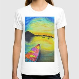 Morning on the Lake Kashmir T-shirt