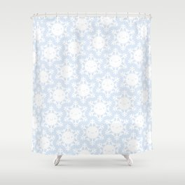 Kawaii Winter Snowflakes Shower Curtain