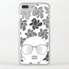 Afro Diva Gray Clear iPhone Case