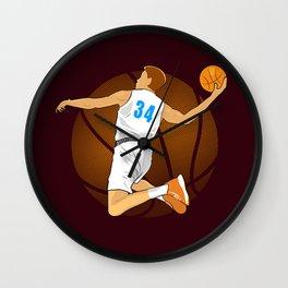 Basketball Player II Wall Clock