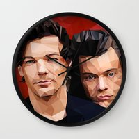 larry Wall Clocks featuring Polygonal Larry by Peek At My Dreams