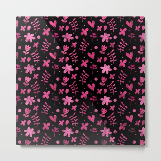 Colorful Lovely Pattern VIII Metal Print