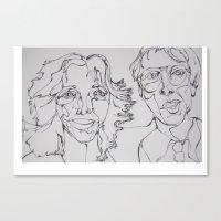 carl sagan Canvas Prints featuring Carl Sagan and Ann Druyan by PigeonHouse