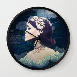 Rihanna as Japanese Deity Triptych (Tsukuyomi) Wall Clock