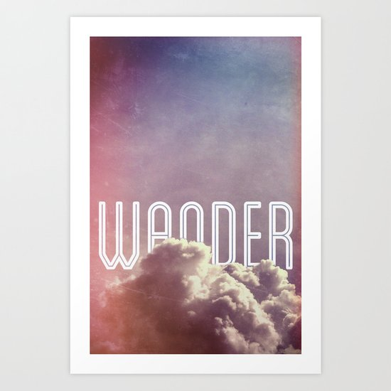 Wander (vertical) Art Print