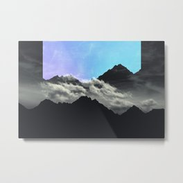 echo mountains Blue Metal Print