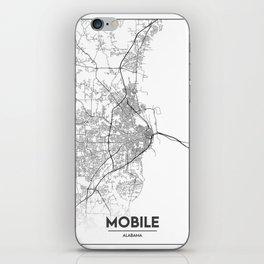 Minimal City Maps - Map Of Mobile, Alabama, United States iPhone Skin