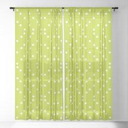 Geometric dots on lime Sheer Curtain