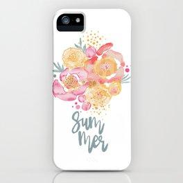 Summer Garden Bouquet - Watercolor Flowers iPhone Case
