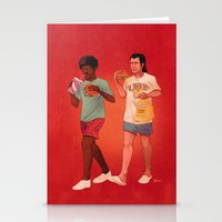 pulp fiction Stationery Cards featuring Pulp Fiction by Dave Collinson