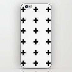 +++ (black) iPhone Skin