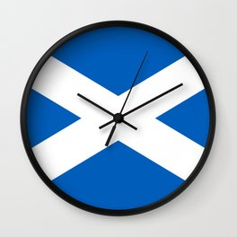 National flag of Scotland - Authentic version to scale and color Wall Clock