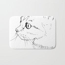 cat face Bath Mat