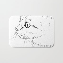 cat face Bath Mat