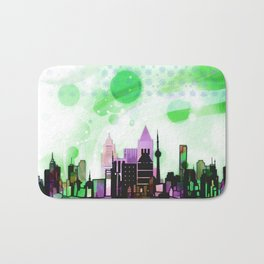 Bright Architecture and Snowflakes #2 Bath Mat