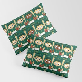 Baseball Green and Gold - Super cute sports stars Pillow Sham