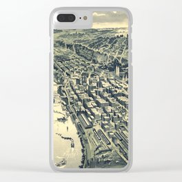 Vintage Map of St. Paul MN (1893) Clear iPhone Case
