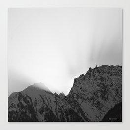 Sunrise black & white Canvas Print