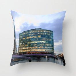 London Riverbank Throw Pillow