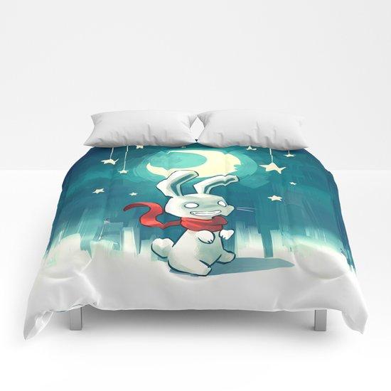 Moon Bunny 2 Comforters
