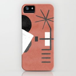 """A simple """"Miró"""" on a red background - minimal composition iPhone Case"""