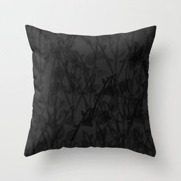 Gloomy Grey Gardens Throw Pillow