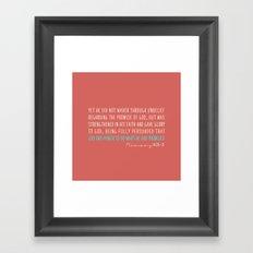 Romans 4:20-21 Framed Art Print