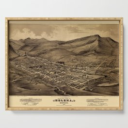 Map Of Helena 1875 Serving Tray