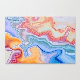 Liquid Rainbow Agate Gem Canvas Print