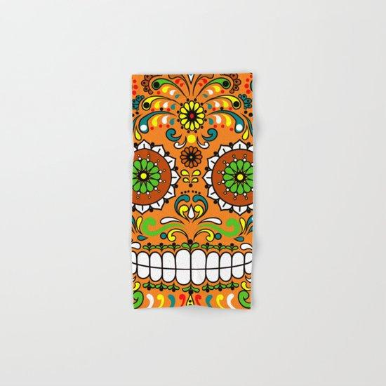 Sugar Skull #8 Hand & Bath Towel