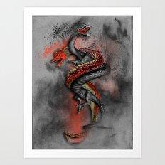 Double Dragon 2 Art Print