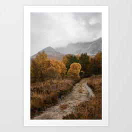 Toward the mountains Art Print
