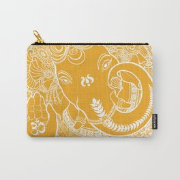 Ganesha Lineart Yellow White Carry-All Pouch