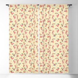 A Chance of Rain - Coral & Cream Blackout Curtain
