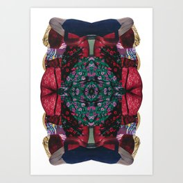 red lace - a modern, colorful collage Art Print