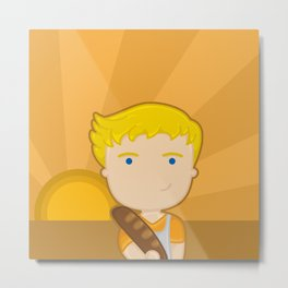 The boy with the bread Metal Print