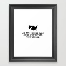 america haiku Framed Art Print