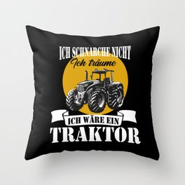Tractor Farmers Men Tractor Drivers Throw Pillow