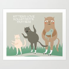 Kitten Fun. Art Print