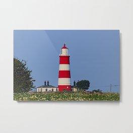 Happisburgh Lighthouse Norfolk Metal Print