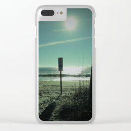 Morning shadows Clear iPhone Case