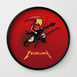 Zelda llinka - Red Link Wall Clock