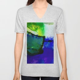 Abstract Bliss 4J by Kathy Morton Stanion Unisex V-Neck