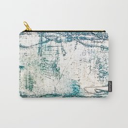 Subtle Blue Textured Acrylic Painting Carry-All Pouch