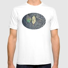 leaf you White MEDIUM Mens Fitted Tee