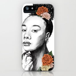 Autumn petals - floral portrait 2 of 3 iPhone Case