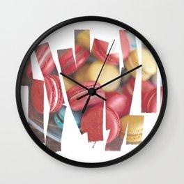 Bright macaroons Wall Clock
