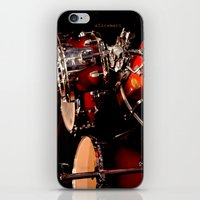 drums iPhone & iPod Skins featuring Drums  by Alice Mari